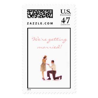 Vintage Proposal / Engagement Invitation Postage
