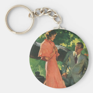 Vintage Proposal; Will You Marry Me? Keychain