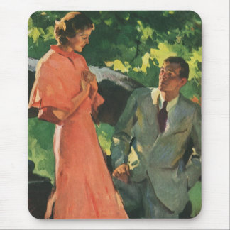 Vintage Proposal; Will You Marry Me? Mouse Pad