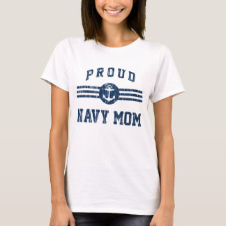 Vintage Proud Navy Mom T-Shirt