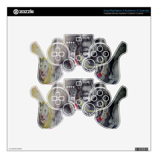 Vintage PS3 controller Skin Template Customized