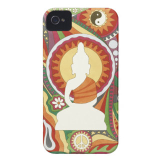 Vintage Psychedelic Buddha iPhone 4 Cover