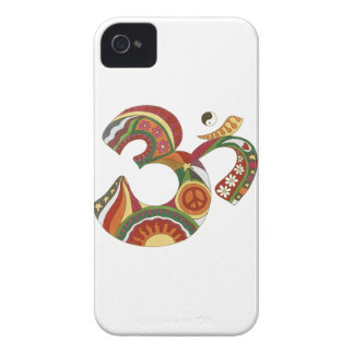 Vintage Psychedelic Fat Om iPhone 4 Case-Mate Case
