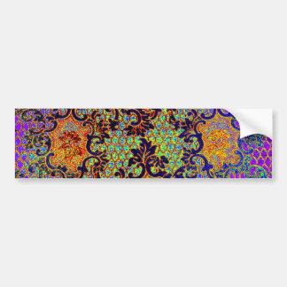 Vintage Psychedelic Fine Wallpaper Floral Pattern Bumper Sticker