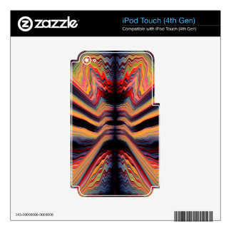 Vintage psychedelic pattern decals for iPod touch 4G