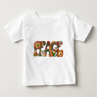 Vintage Psychedelic Peace Baby T-Shirt