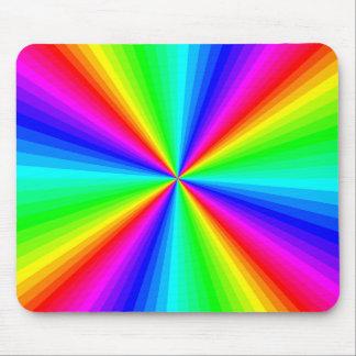 Vintage Psychedelic Rainbow Sunburst Mousepad