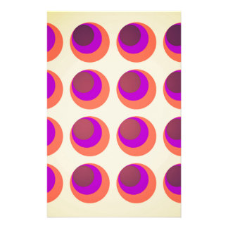 Vintage psychedelic swinging sixties background personalised stationery