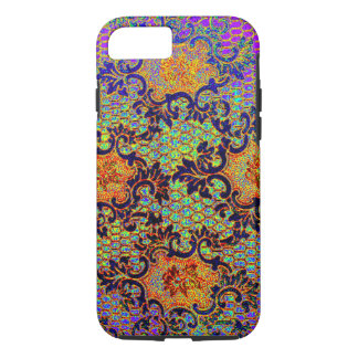 Vintage Psychedelic Wallpaper Floral Pattern iPhone 7 Case