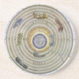 Vintage Ptolemaic Planisphere by Andreas Cellarius Drink Coaster