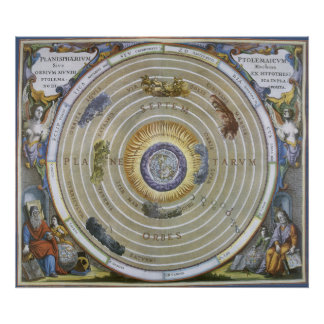 Vintage Ptolemaic Planisphere by Andreas Cellarius Poster