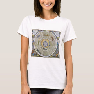 Vintage Ptolemaic Planisphere by Andreas Cellarius T-Shirt