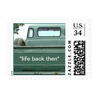 vintage PU Truck  Postcard Stamp #1- customize