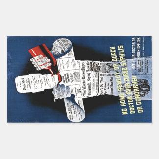 Vintage Public Health Poster Sticker