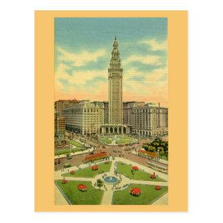 Vintage Public Square Cleveland Ohio Postcard