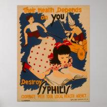 Vintage Public WPA Health Poster