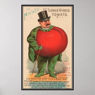 Vintage: publicidad de la agricultura - póster