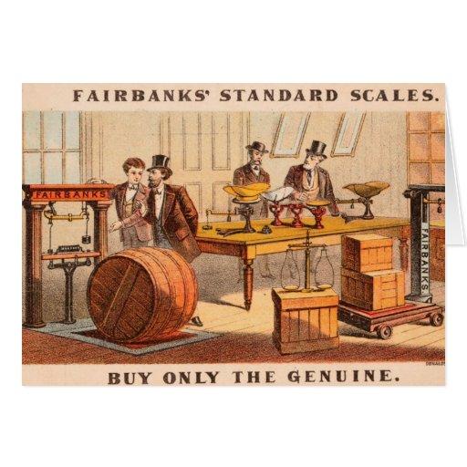 Vintage: publicidad de la agricultura - tarjeta pequeña