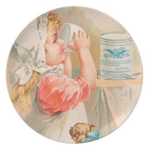 Vintage: publicidad de la bebida - plato