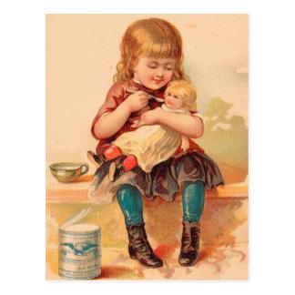 Vintage: publicidad de la bebida - tarjeta postal