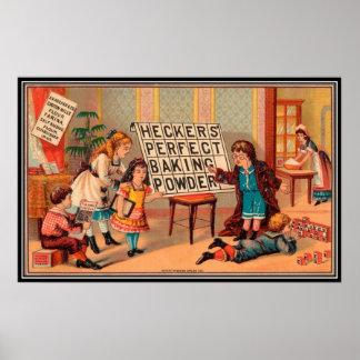Vintage: publicidad de la hornada - póster