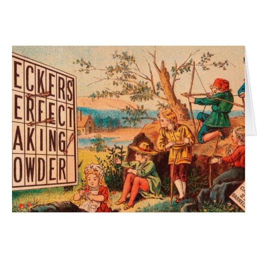 Vintage: publicidad de la hornada - tarjeta