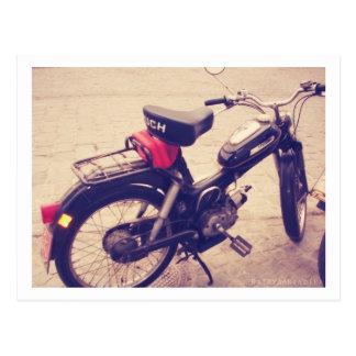 Vintage Puch MV 50 Bike Postcard