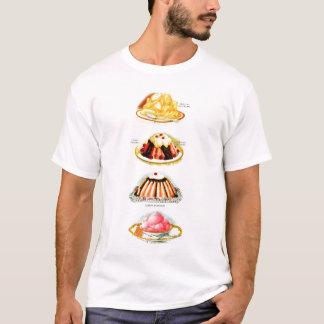 Vintage Pudding Jello Deserts Kitsch Illustration T-Shirt