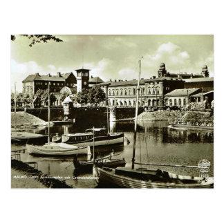 Vintage puerto de Suecia, Malmo! Postales