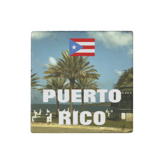 Vintage Puerto Rico Photography Stone Magnet