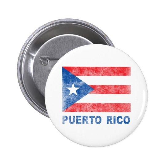 Vintage Puerto Rico Pin Redondo De 2 Pulgadas