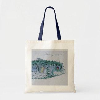 vintage puffer fish tote tote bag