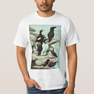 Vintage Puffins, Aquatic Bird, Marine Life Animals T-Shirt