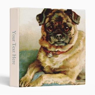 Vintage Pug Love 3 Ring Binder