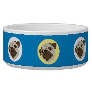 Vintage Pugs Dog Bowl