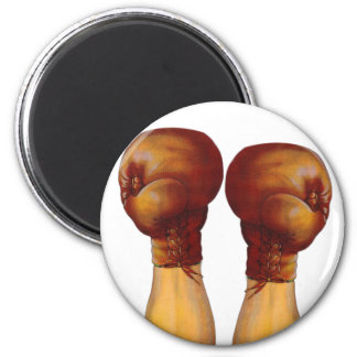Vintage Pugulast Boxing Gloves One Two Punch Magnet