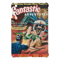 VINTAGE PULP MAGAZINE COVER GREETING CARD iPad MINI CASE
