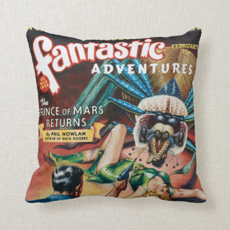 VINTAGE PULP MAGAZINE COVER GREETING CARD THROW PILLOW