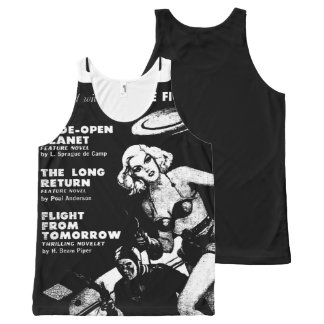 Vintage Pulp Paperback Sci-Fi Space Girl Cover All-Over-Print Tank Top