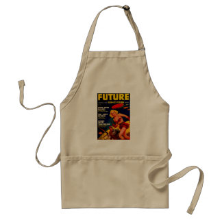 Vintage Pulp Paperback Sci-Fi Space Girl Cover Apron