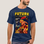 Vintage Pulp Paperback Sci-Fi Space Girl Cover T-Shirt