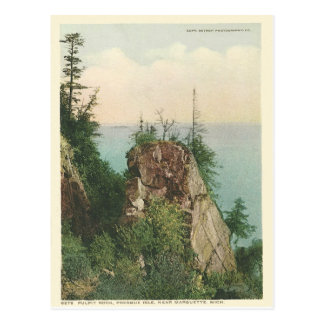 Vintage Pulpit Rock Marquette Michigan Postcard