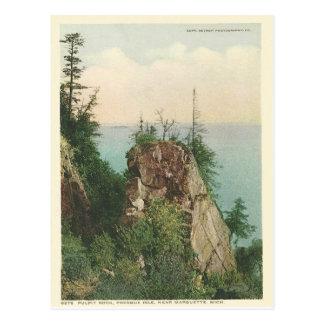 Vintage Pulpit Rock Marquette Michigan Postcard