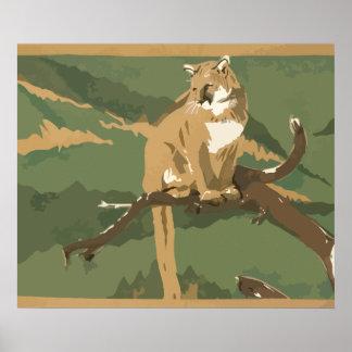 Vintage puma poster