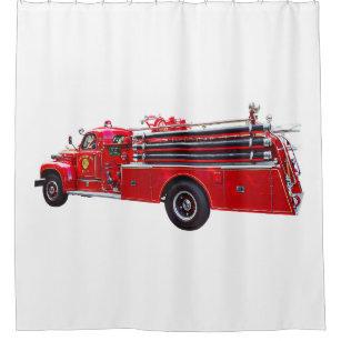 Vintage Pumper Fire Engine Shower Curtain