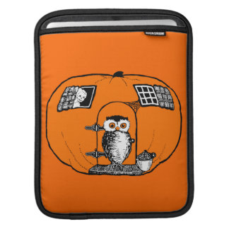 Vintage Pumpkin House Owl Sleeve For iPads