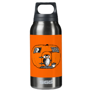 Vintage Pumpkin House Owl 10 Oz Insulated SIGG Thermos Water Bottle