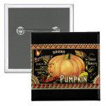Vintage Pumpkin Label Art Butterfly Brand Pins