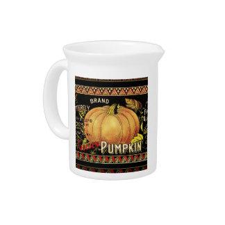 Vintage Pumpkin Label Art Butterfly Brand Pitchers