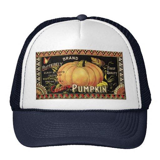 Vintage Pumpkin Label Art Butterfly Brand Trucker Hat